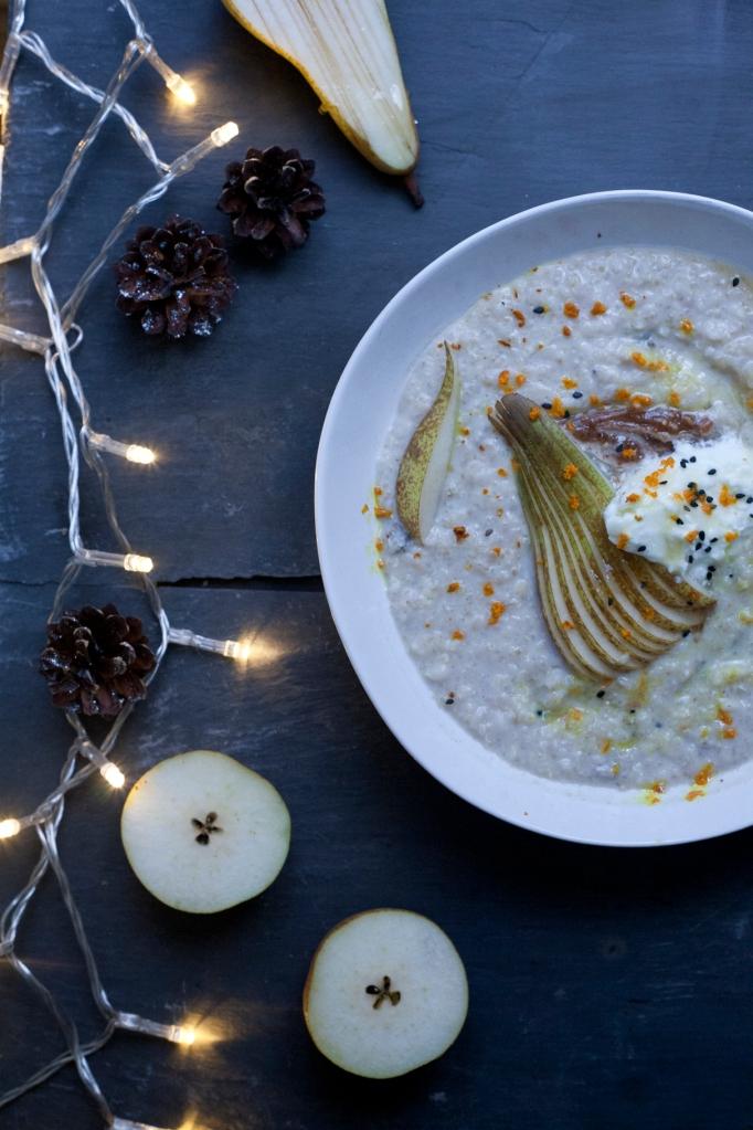 salted caramel pears porridge1